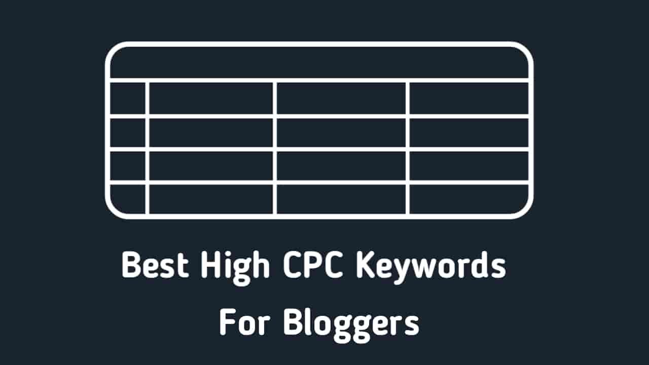 Best High CPC Keywords Most Useful Keywords For Niche