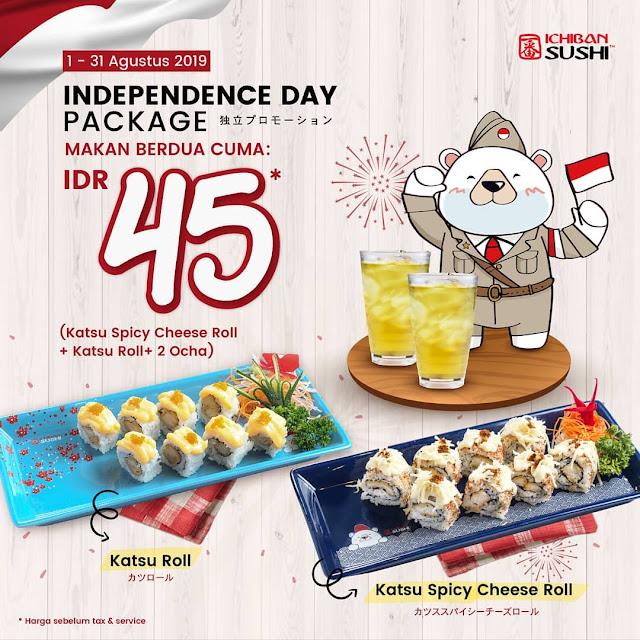 #IchibanSushi - #Promo Independence Day Package Berdua Cuma 45K (s.d 31 Agustus 2019)