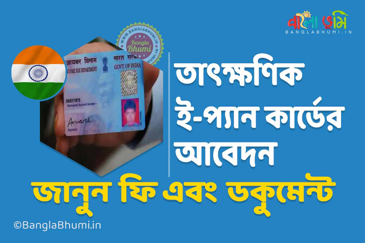 How to do Instant e-PAN card Application, Know about Fee and Documents