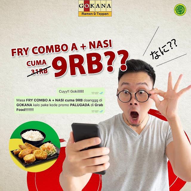 #Gokana - #Promo Fry Combo + Nasi Cuma 9K Pakai GrabFood Voucher (s.d 29 Sept 2019)