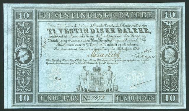 Danish West Indies Dollar money currency banknote
