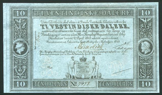 Danish West Indies Dollar money currency banknote