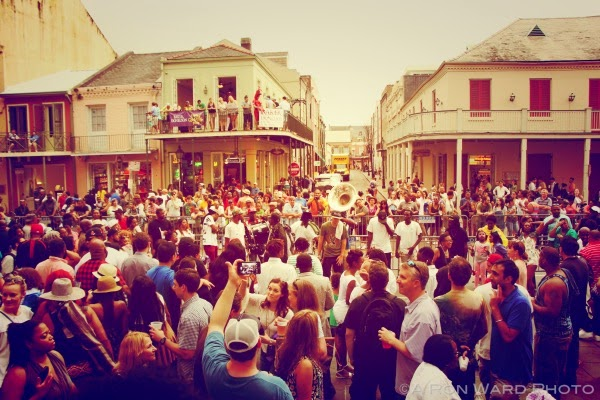 2015 French Quarter Festival St. Peter Street Scene