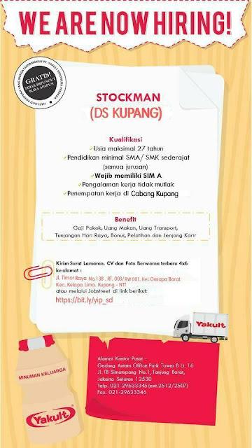 Loker Kupang Stockman di PT. Yakult Indonesia Persada Cabang Kupang