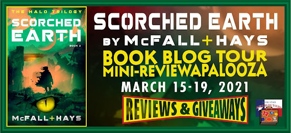 Scorched Earth book blog tour promotion banner
