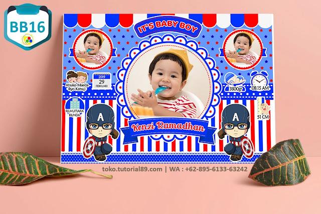Biodata Bayi Costume Baby Boy Kode BB16 | Capten America