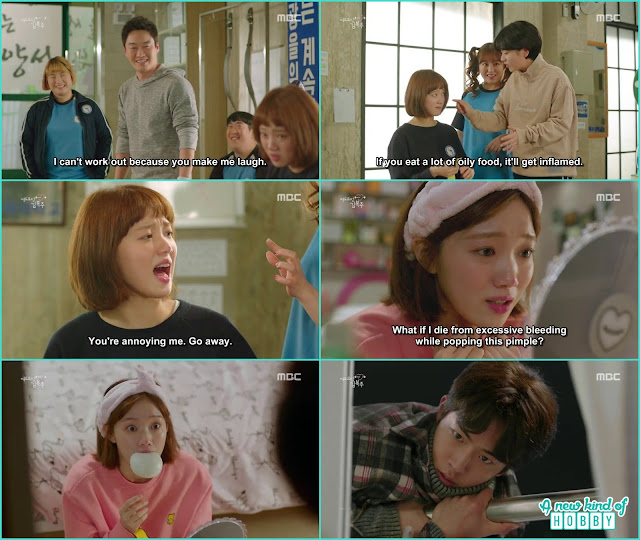 bok joo avoided joon hyung because of the pimple but he caught her - Weightlifting Fairy Kim Bok Joo: Episode 14