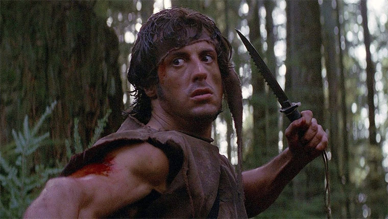 Sylvester Stallone in RAMBO (FIRST BLOOD, 1982). Quelle: Screenshot Studiocanal Blu-ray (bearbeitet)