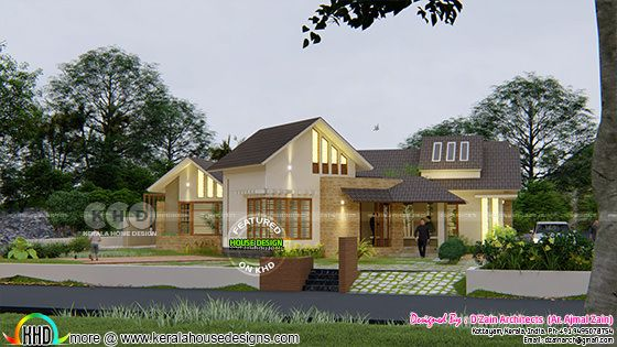 Modern contemporary style home view 1