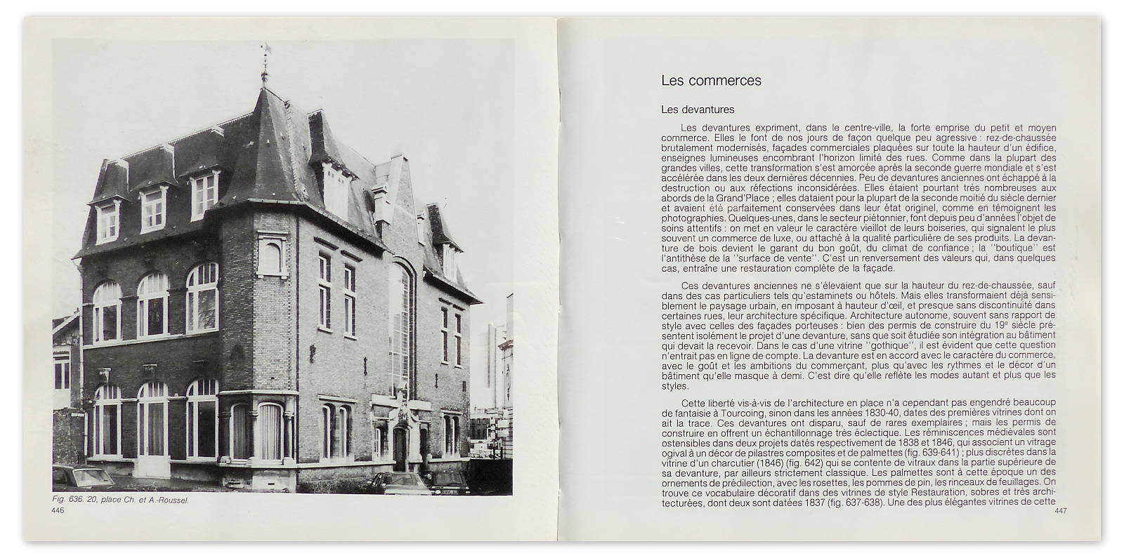 Livre - Tourcoing 1771-1984, pages 446 et 447