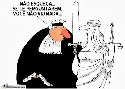Resultado de imagem para judiciário brasileiro charge
