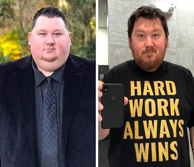 21 Before And After Photos Of People Who Managed To Lose Weight and Begin A Brand New Life - He lost 90lb in 13 months. What a great achievement!