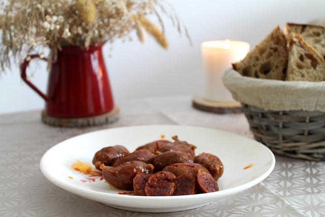 Choricitos a la sidra en crock pot