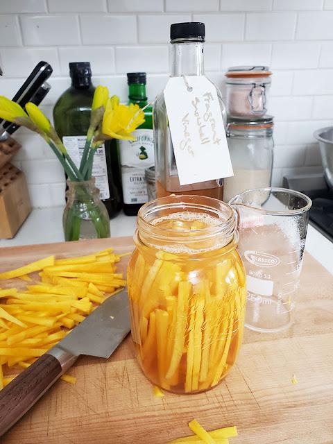 Carrots in vinegar