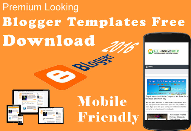 Free Responsive Blogger Template 2016