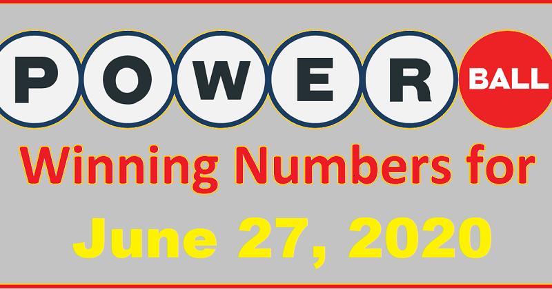 Powerball Winning Numbers For Saturday June 27 2020