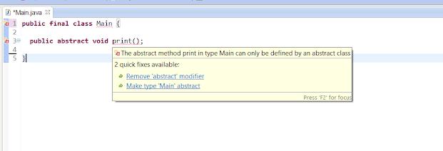 final class Java example