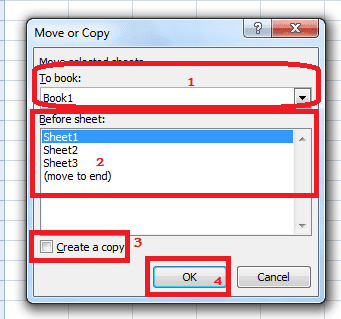 how to copy excel sheet to another sheet
