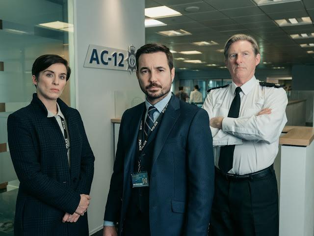 Vicky McClure, Adrian Dunbar y Martin Compston.