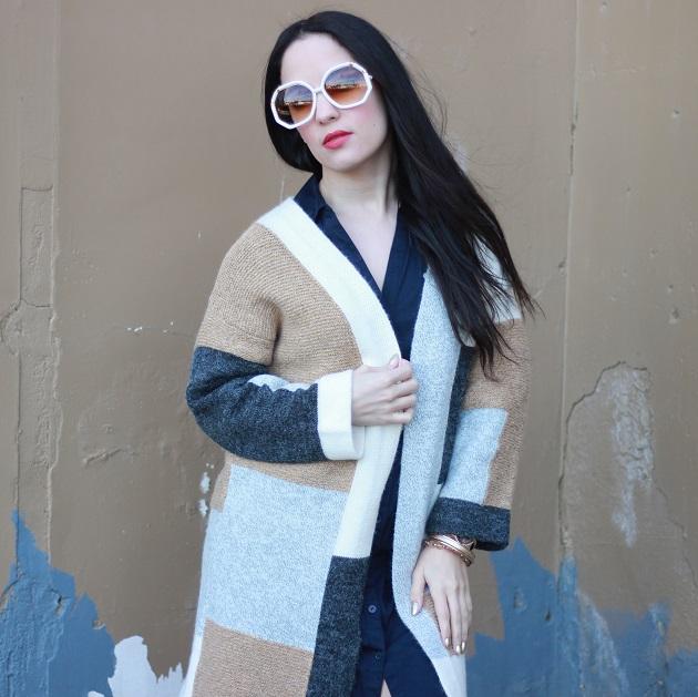 SheIn Color Block Sweater