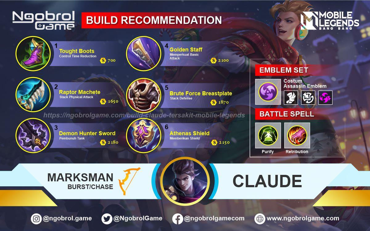 Build Claude  Savage Mobile Legends