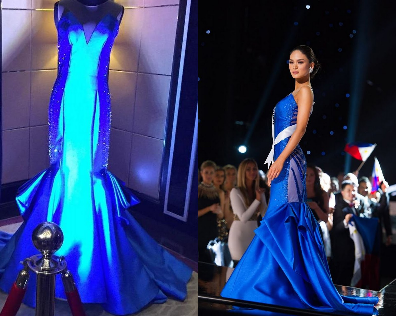 The royal blue gown designs are hot fashion trends inspired by Miss ...