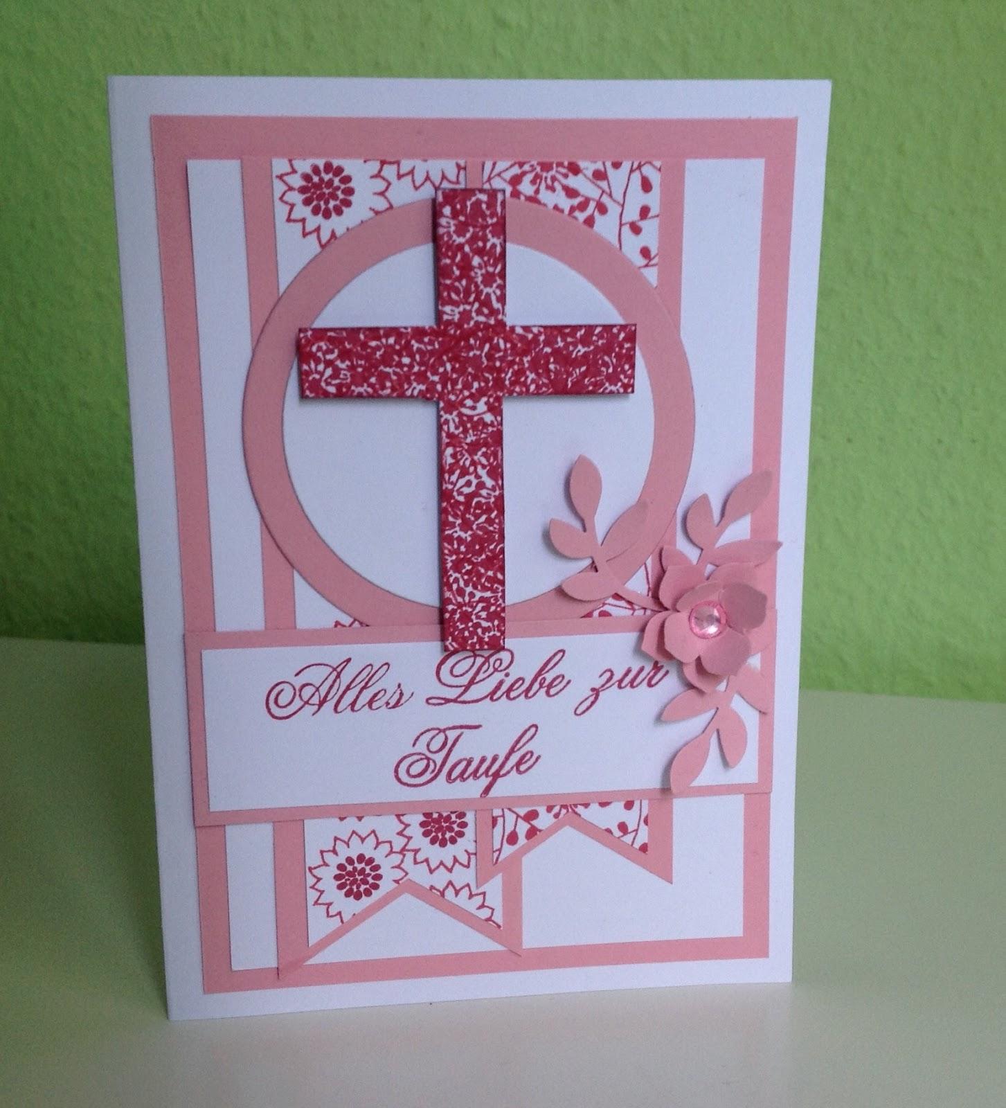 Kristin Stempelmädels Karte Zur Taufe Für Mädchen