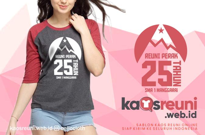 Sablon Kaos Reuni Perak 25 Tahun SMA 1 Manggarai - Kaos Reuni