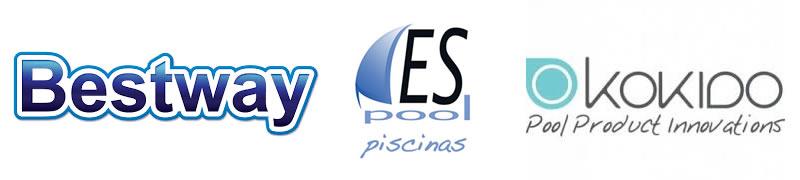 logo bestway, kokido y espoolpiscinas Guadalajara - info@espoolpiscinas.es