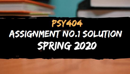 PSY404