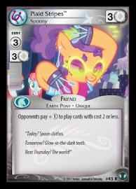 My Little Pony Plaid Stripes, Spoony Defenders of Equestria CCG Card