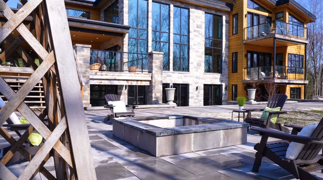 70 Interior Design Photos vs. 141 Interlaken Ct, The Blue Mountains, ON Luxury Mansion Tour