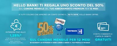 Hello Bank! Ti regala Mediaset Premium