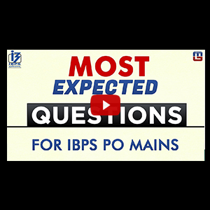 Most Excepted Questions | English | IBPS PO MAINS 2017