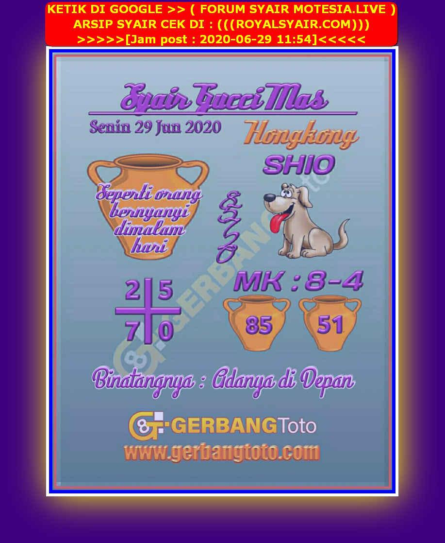 Kode syair Hongkong Senin 29 Juni 2020 97