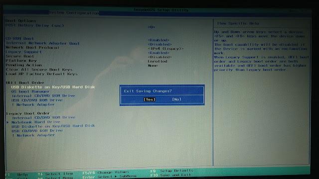Cara instal Windows 10 Pro untuk pemula; seting BIOS-4