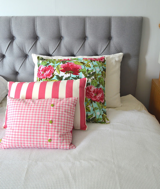 Five Kinds of Happy pink cushion covers