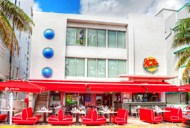Lanchonete Johnny Rockets em Miami