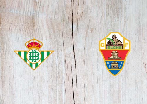 Real Betis vs Elche -Highlights 01 November 2020