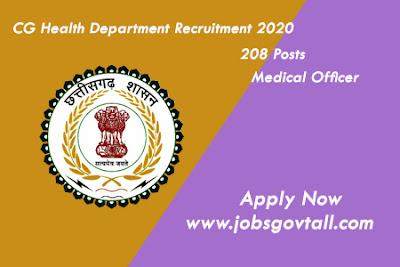 CG Health Department Recruitment 2020@jobsgovtall.com