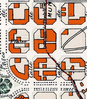 Plano  Barcelona y  alrededores  1890
