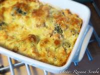Souffle de broccoli cu somon