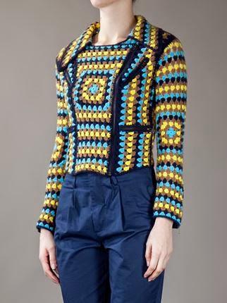 wzory ubrań szydełkowych