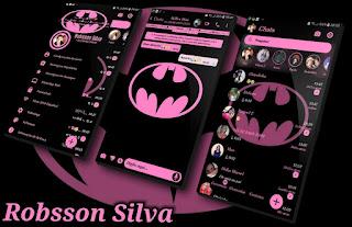 RC Galx Batman Pink Theme For YOWhatsApp & Fouad WhatsApp By R̳o̳b̳s̳s̳o̳n̳