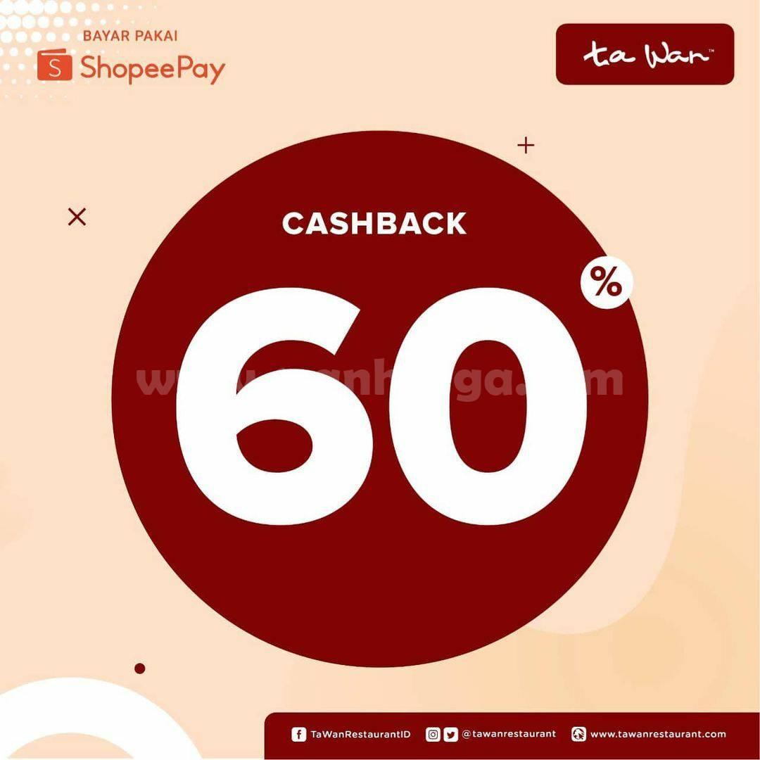 TA WAN Promo harga spesial voucher cashback 60% ShoppePay Cuma Rp 1