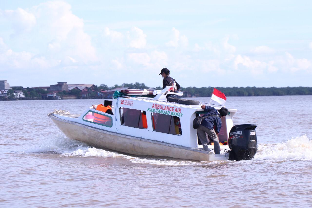 Bupati Tanjab Barat Resmikan Ambulance Air Dipelabuhan LLASDP Memproritaskan Pelayanan Kesehatan Pada Masyarakat