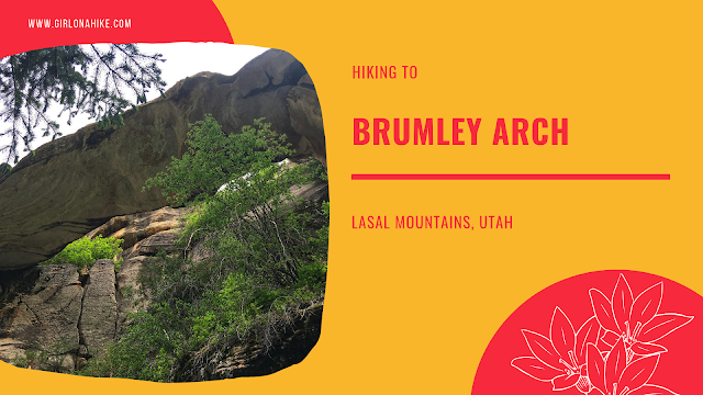 Hiking to Brumley Arch, LaSal Mountains