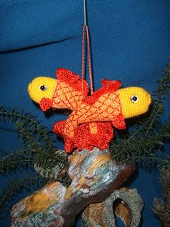 Знаки зодиака вязаные крючком. Рыбы описание