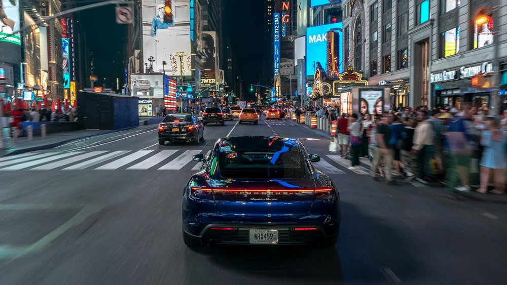 Porsche Taycan hits the road for the first time