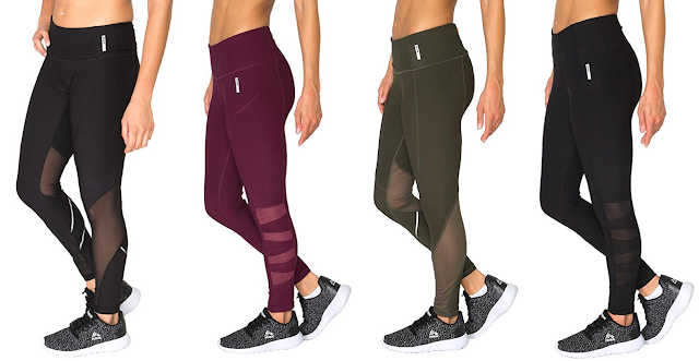 RBX Active Spliced Leggings with Mesh and Reflective Tape $20-$28 (reg $68)